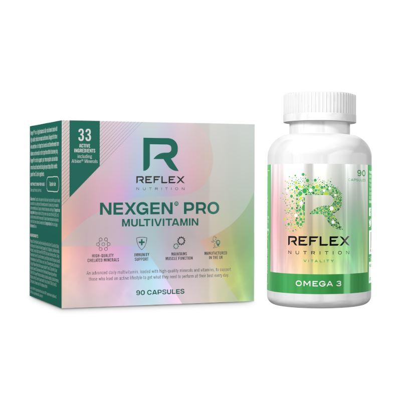 Reflex Nexgen® PRO Multivitamín 90 kapslí NEW + Omega 3 90 kapslí ZDARMA