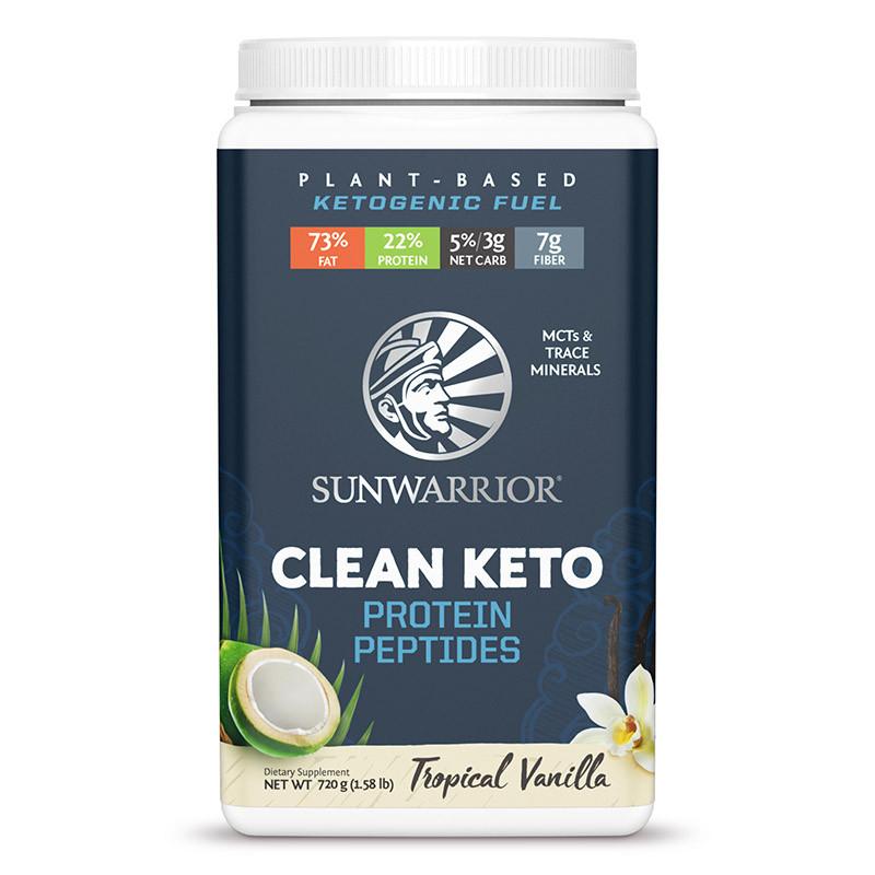 Sunwarrior CLEAN KETO, 720g - Vanilka