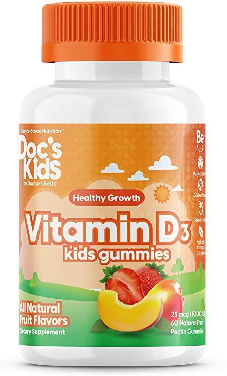 Doctor's Best Doctor's Best Children's vitamin D3 (vitamín D3 pro děti), 60 gumových medvídků