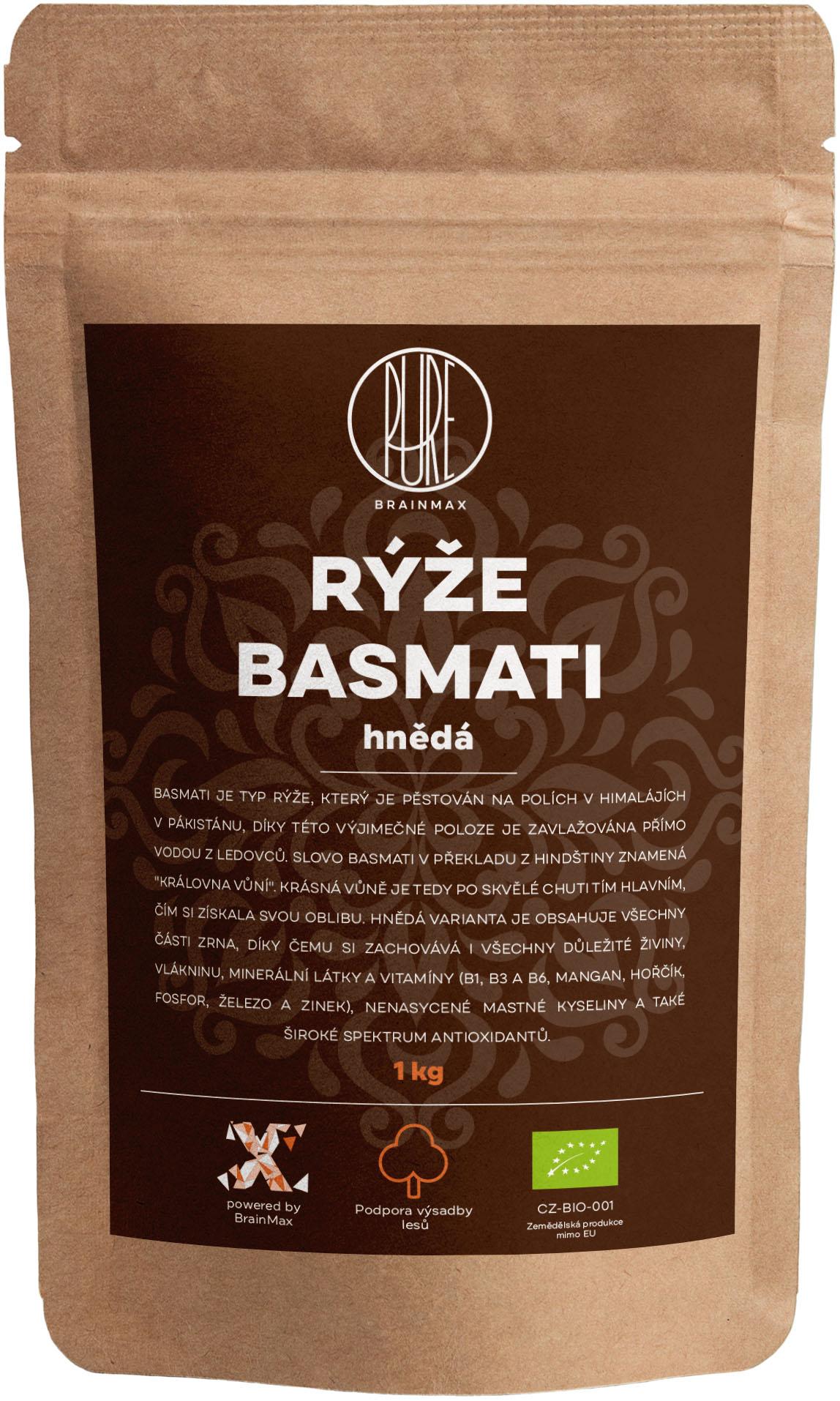 BrainMax Pure Rýže - hnědá, Basmati BIO, 1kg *CZ-BIO-001 certifikát