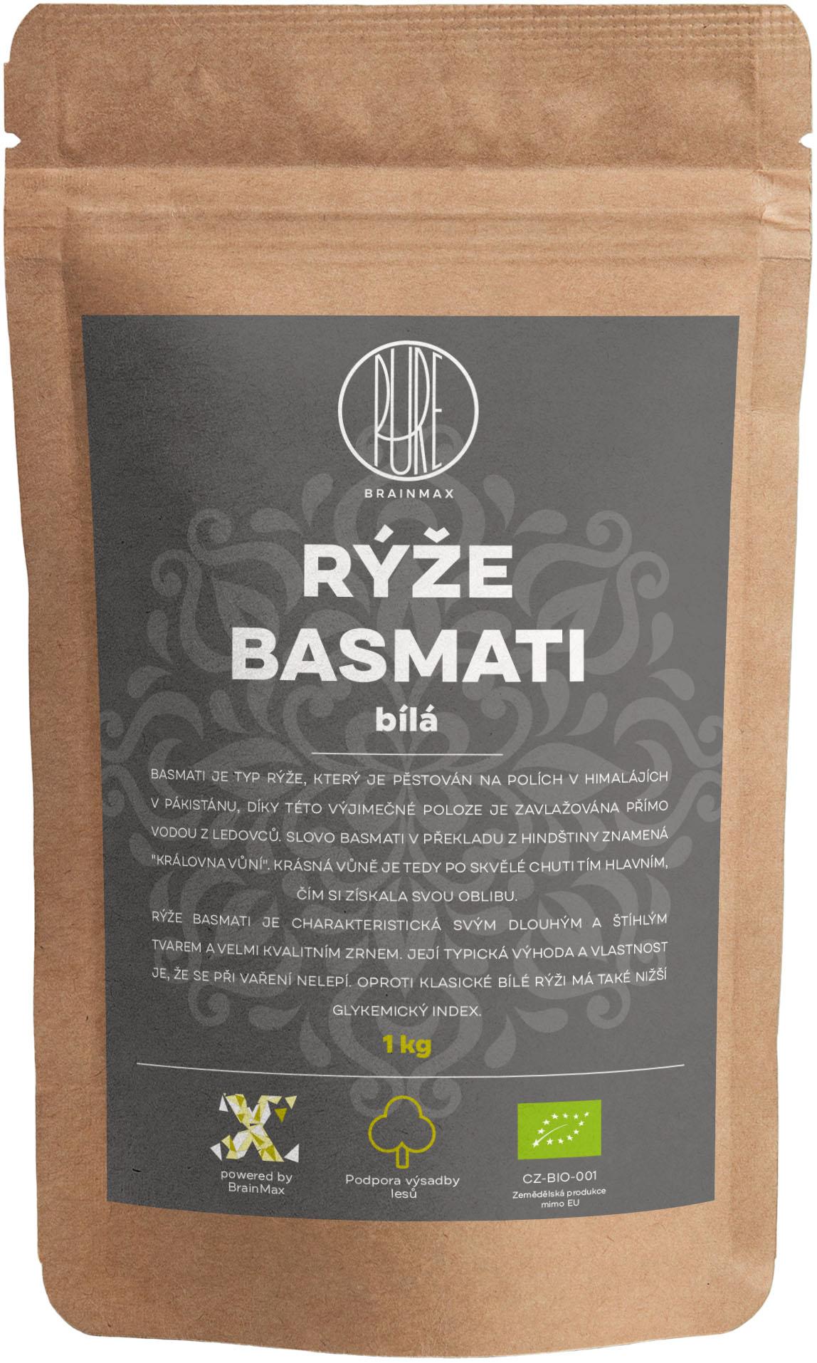 BrainMax Pure Rýže - bílá, Basmati BIO, 1kg *CZ-BIO-001 certifikát
