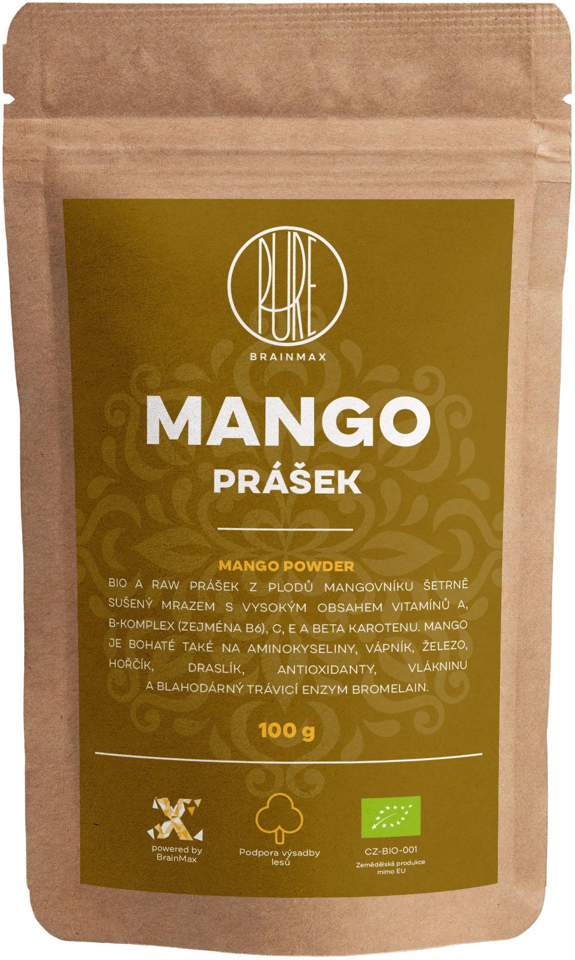 BrainMax Pure Mango BIO prášek, 100 g *CZ-BIO-001 certifikát