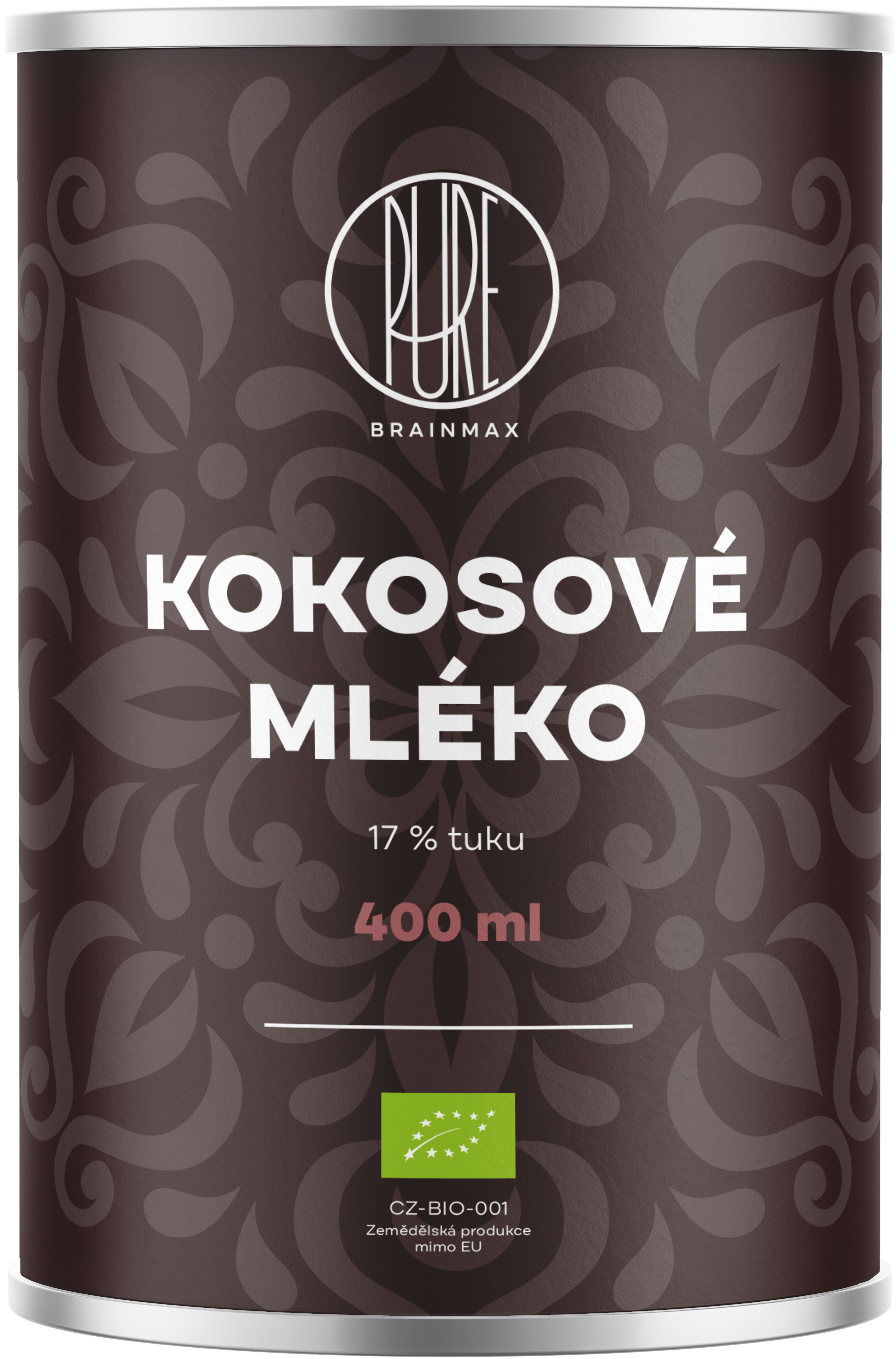 BrainMax Pure Kokosové mléko 17% tuku, BIO, 400 ml *CZ-BIO-001 certifikát