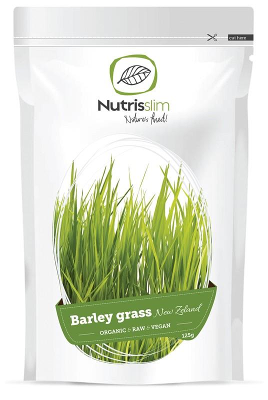 Nutrisslim Barley Grass Powder (New Zealand) 125g Bio SI-EKO-001 certifikát