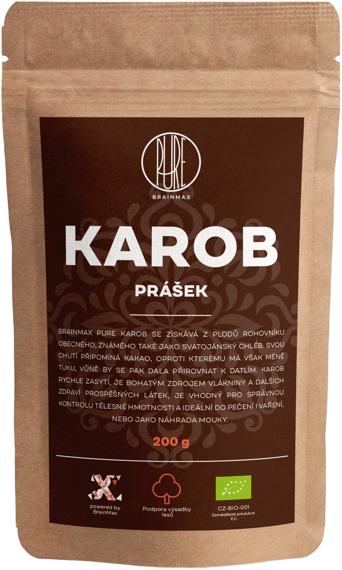 BrainMax Pure Carob (Karob) BIO, 200 g *CZ-BIO-001 certifikát