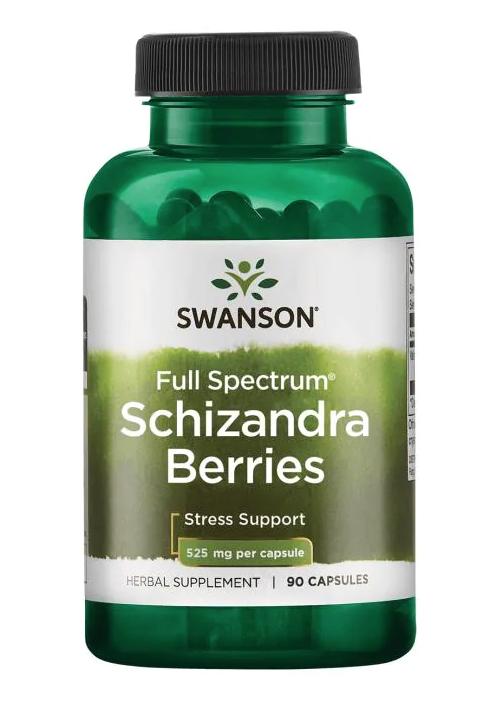 Swanson Schizandra Berries (Klanopraška čínská), 525 mg, 90 kapslí