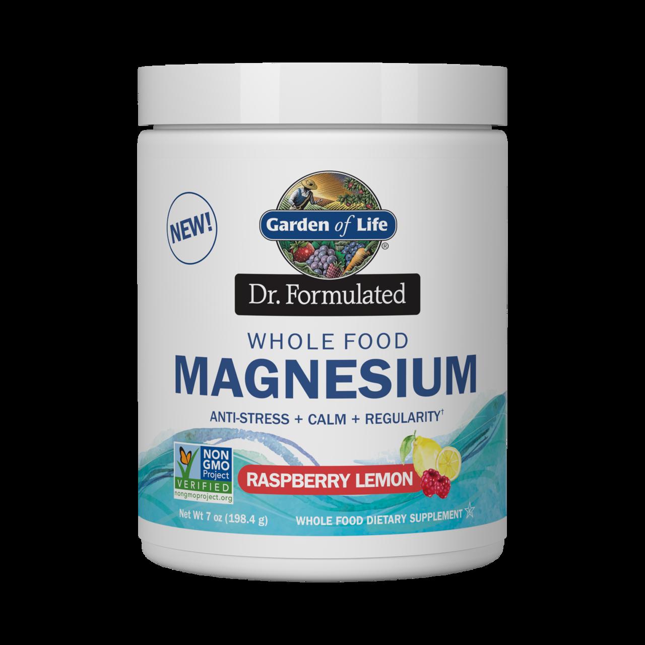 Garden of Life - Magnesium Dr. Formulated (hořčík) - malina a citrón, 198g
