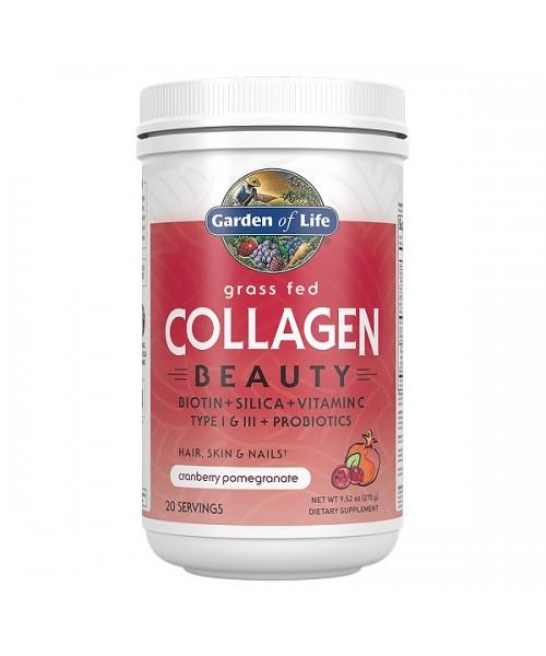 Garden of Life Collagen Beauty (Kolagen - Kolagenní peptidy), Brusinka a granátové jablko, 270 g