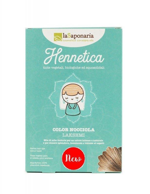 laSaponaria - Přírodní barva na vlasy Lakshmi BIO, lískový ořech, 100 g