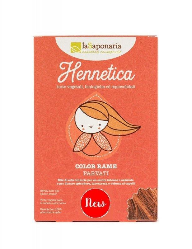 laSaponaria - Přírodní barva na vlasy Parvati BIO, měď, 100 g