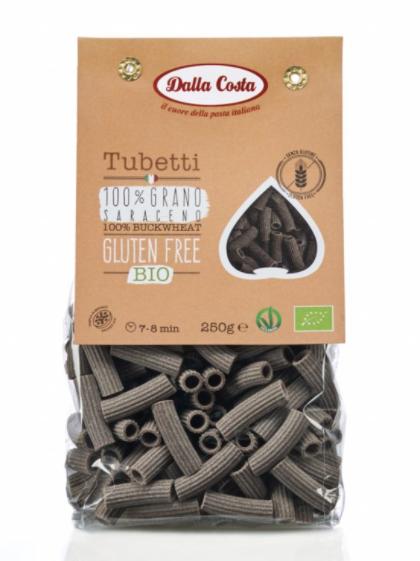 Levně Dalla Costa - BIO bezlepkové těstoviny Tubetti pohanka, 250 g CZ-BIO-001 certifikát