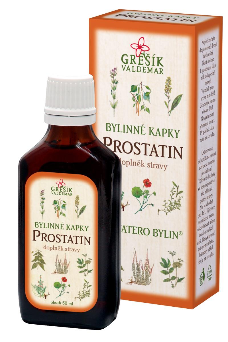 Grešík bylinky na prostatu kapky Prostatin 35% líh 50 ml