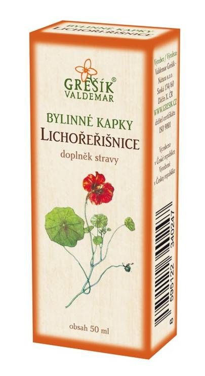 Grešík Natura Lichořeřišnice bylinné kapky 50 ml