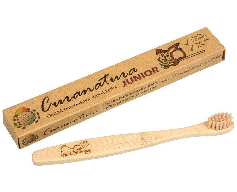 Curanatura Dětský bambusový zubní kartáček Junior