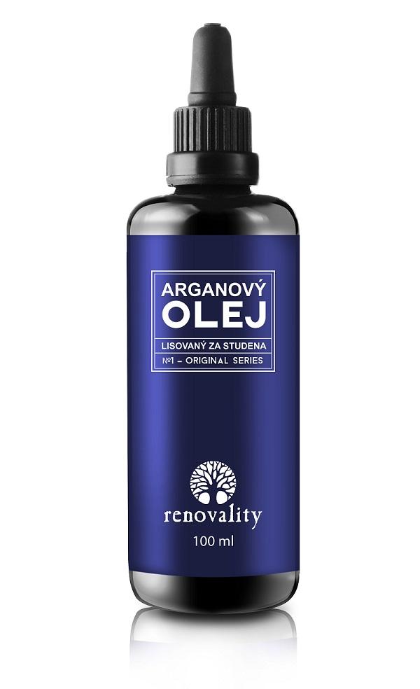 Renovality - Arganový olej za studena lisovaný, 100ml s pipetkou