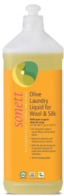 SONETT Olivový prací gel na vlnu a hedvábí, 1 l