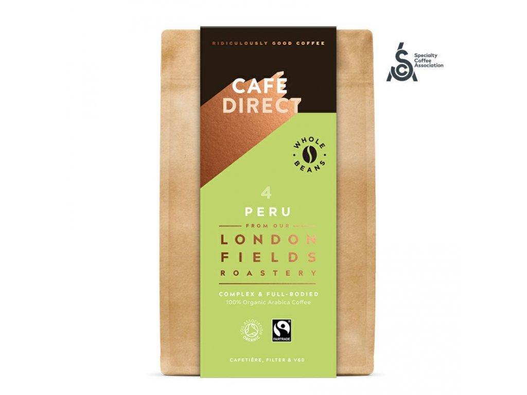Cafedirect BIO Peru Reserve SCA 82 zrnkova kava 200g