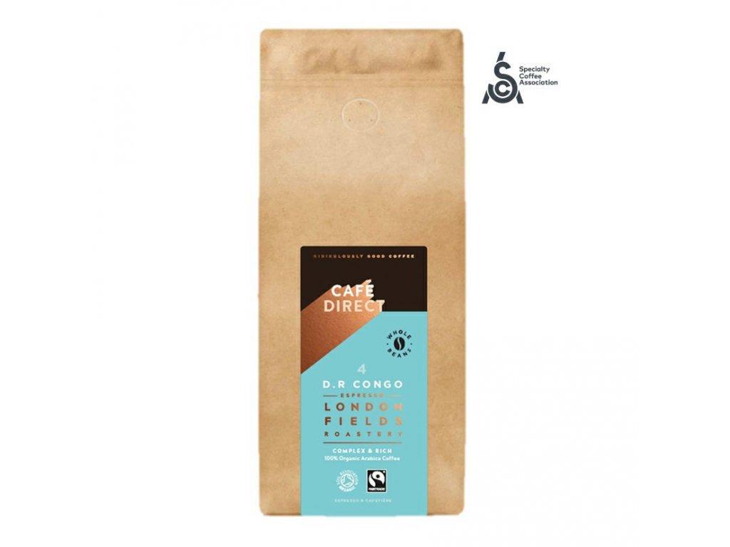 Cafedirect BIO Zrnkova kava Congo SCA 84 s tony medu a horke cokolady 1kg