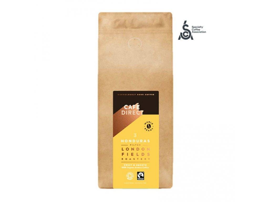 Cafedirect BIO Zrnkova kava Honduras SCA 83 s tony karamelu a orisku 1kg