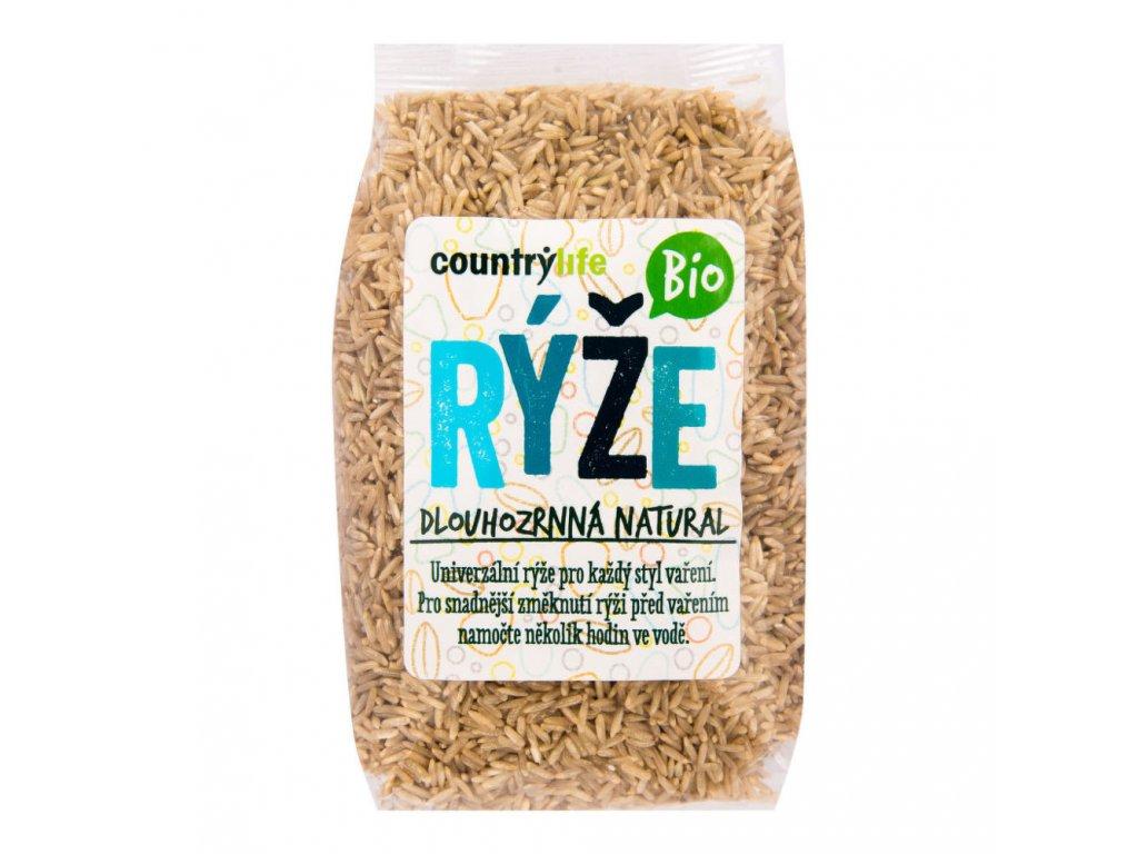 15968 countrylife ryze dlouhozrnna natural bio 500g