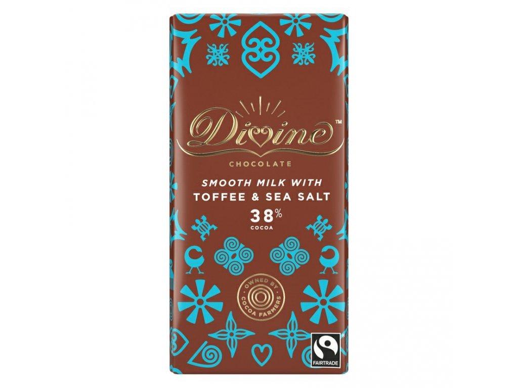 Divine mlecna cokoláda s krupavým karamelem a morskou soli 38% 90g