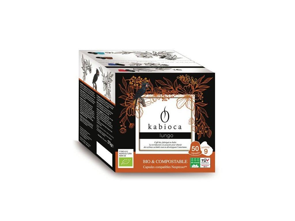 BIO Lungo kompostovatelné kávové kapsle pro Nespresso 50ks