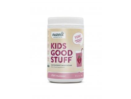 Nuzest - Kids Good Stuff, Wild Strawberry (Csomag 225 g)