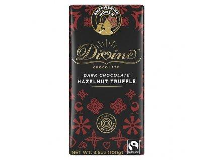 33033 divine chocolate horka cokolada s liskovo oriskovou naplni 41 90g