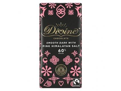 33036 divine chocolate horka cokolada s ruzovou himalajskou soli 60 90g