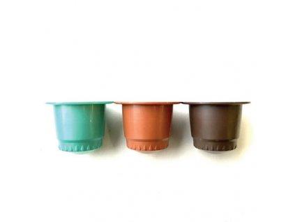 BIO kompostovatelné kávové kapsle pro Nespresso ochutnávací balíček 3ks