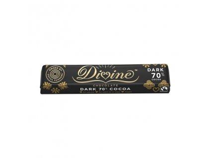 Divine horka cokoladova tycinka Ghana 70% 35g