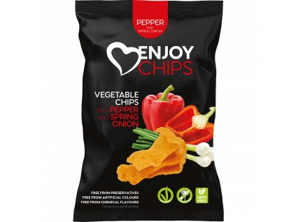 pack vis square enjoy chips gourmet sweet pepper and spring onion