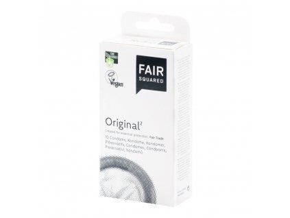 FAIR SQUARED - Veganský přírodní kondom - Original (Darabszám a csomagban 10 db)
