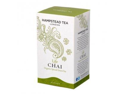Hampstead Tea London BIO Chai zeleny caj s orientalnim korenim 20ks