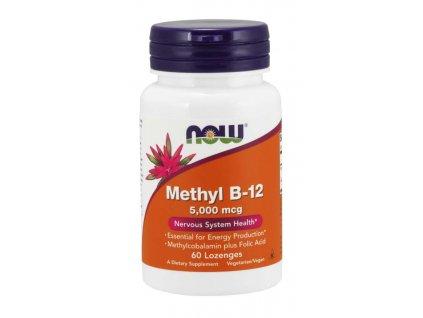 NOW Methyl B 12 (Vitamín B12), 5000 mcg, 60 pastilek