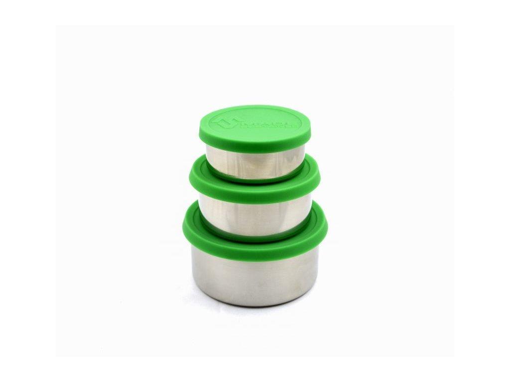 nerezový box na jidlo zeleny Made Sustained sillicon round lunchbox