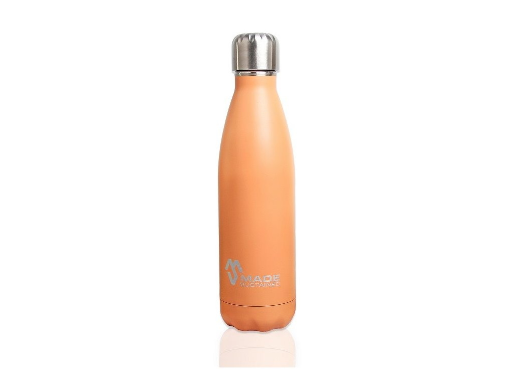 Made Sustained 500ml insulated Knight bottle Flamingo orange
