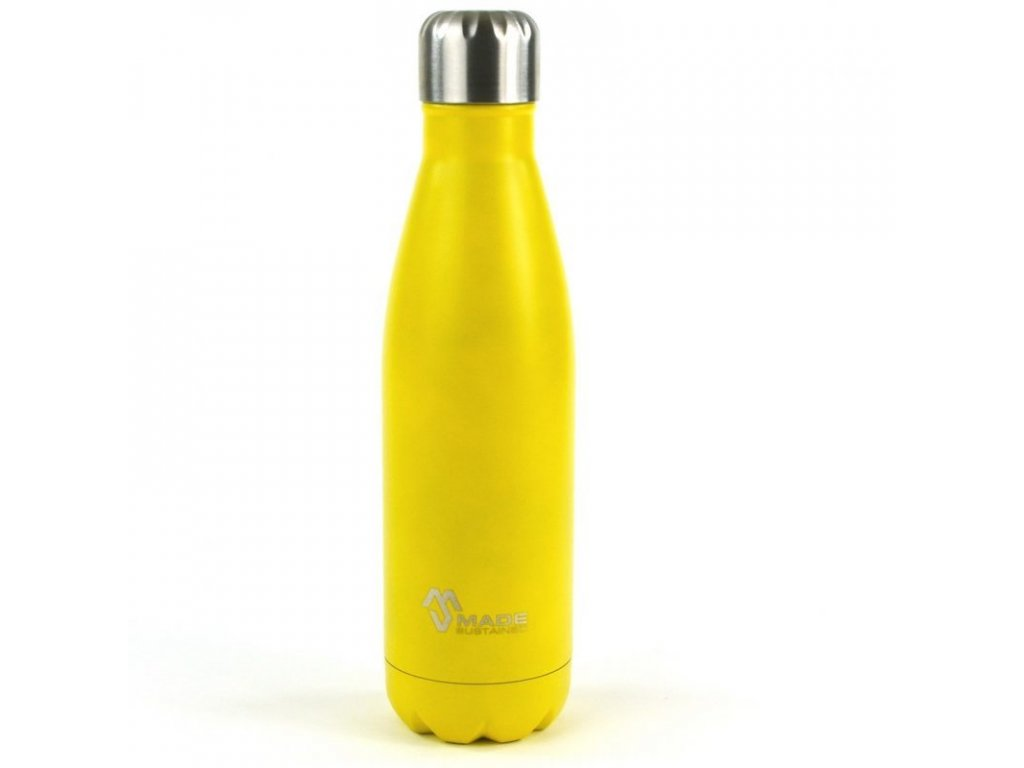 Made Sustained 500ml insulated Knight bottle yellow sun closed e1525609739574