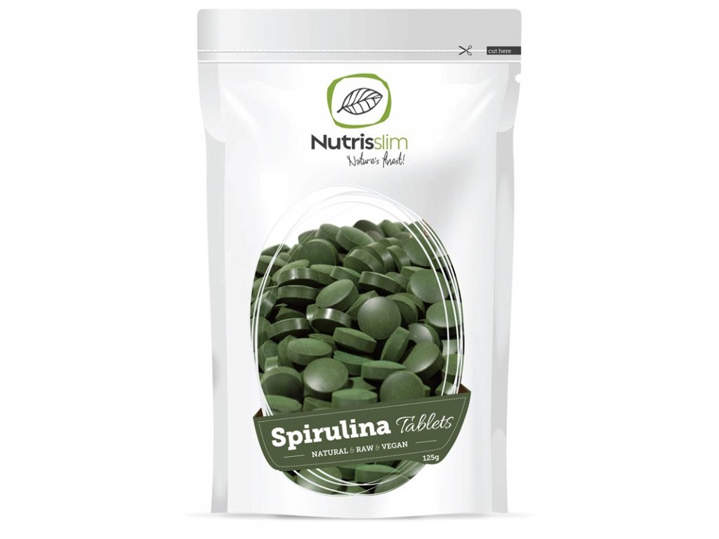 spirulina tablets nutrisslim superfood organic vegan raw