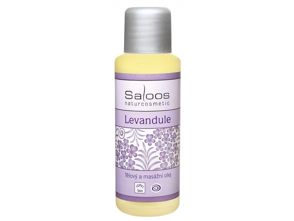 saloos tělový a masážní olej levandule