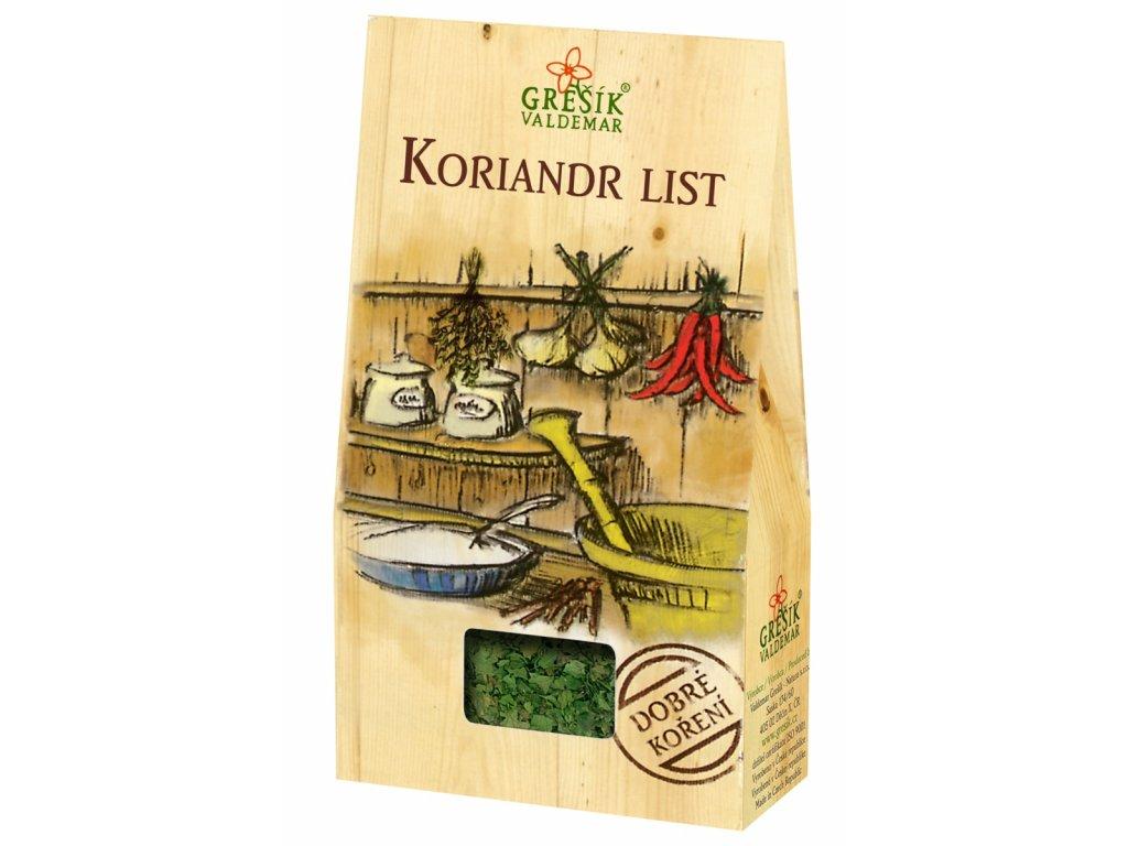 koriandr list