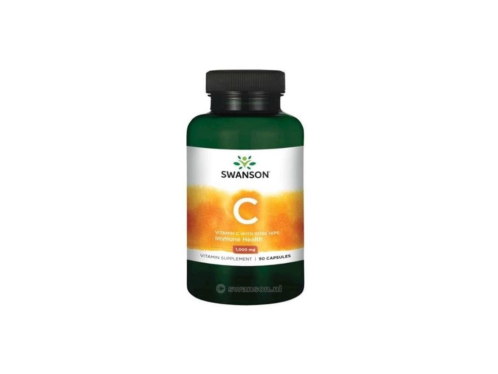 Swanson Vitamin C with Rose Hips 1000mg 90 Capsules