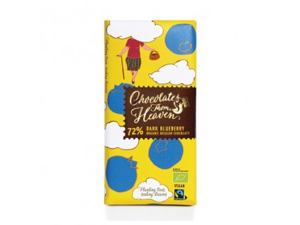 Chocolates From Heaven BIO horka cokolada s boruvkami 72% 100g