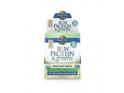Raw protein and greens organic powder vanilka 28g 500x600