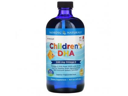 Nordic Naturals Children's DHA, Omega 3 pro děti jahoda, 530mg, 473 ml