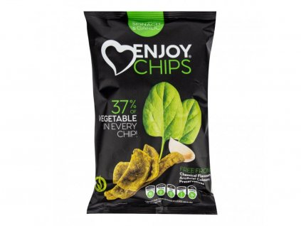 12191 enjoy chips se spenatem a cesnekem 40 g new delespine biostory