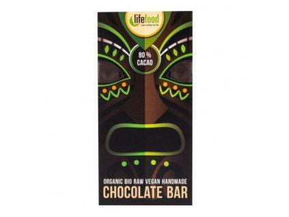 25889 lifefood cokolada z neprazeneho kakaa 80 bio 70g