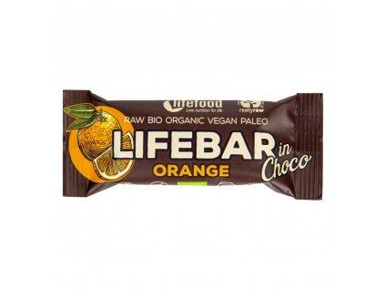 32784 life food tycinka lifebar pomeranc v cokolade 40 g