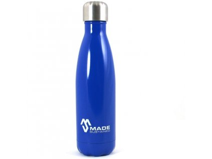 Made Sustained 500ml insulated Knight bottle Cobalt blue