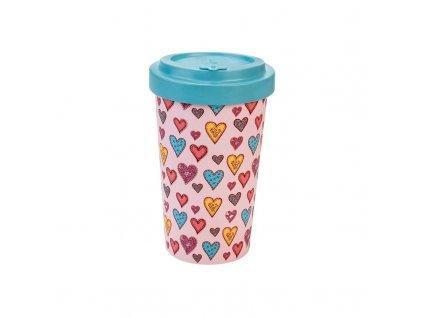 woodway opakovane pouzitelny kelimek na kavu z prirodniho materialu candy hearts